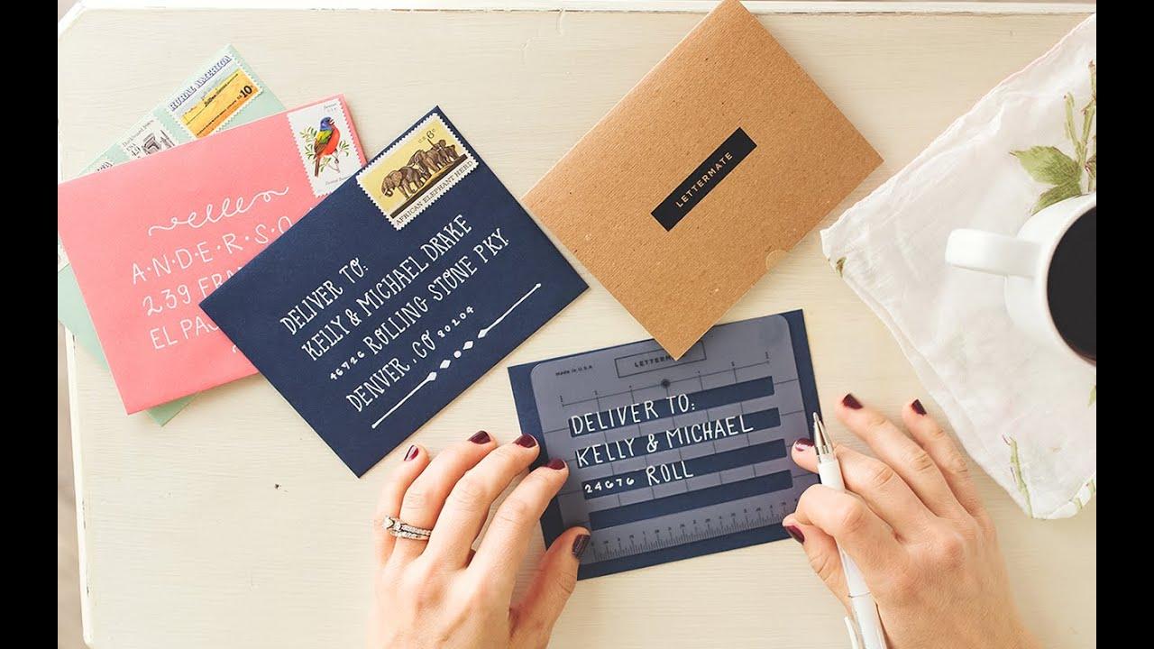 The Lettermate Lettermate Envelope Addressing Stencil Youtube