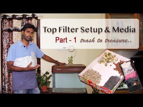 Aquarium Filter | Top Filter Setup And Media | தமிழ்