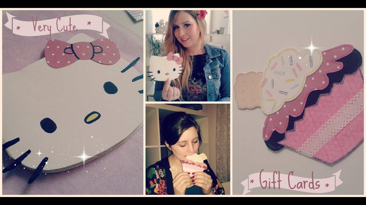 diy karten cupcake und hello kitty - youtube, Einladung