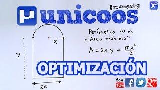 Optimización de una área dado el perímetro BACHILLERATO unicoos