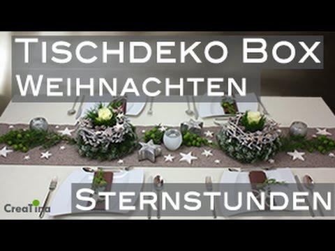 Tischdeko  Tischdeko Box  Weihnachten Sternstunden  Tischdekoration DIY  YouTube