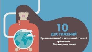 10 ДОСТИЖЕНИЙ Продовольственной и сельскохозяйственной организации Объединенных Наций
