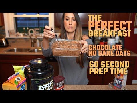 PERFECT BREAKFAST BALANCE Chocolate No Bake Oats #Dietitian