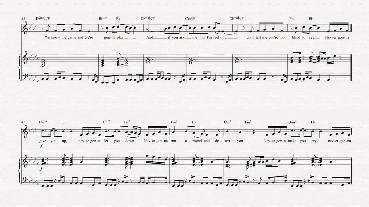 Horn Never Gonna Give You Up Rick Astley Sheet Music