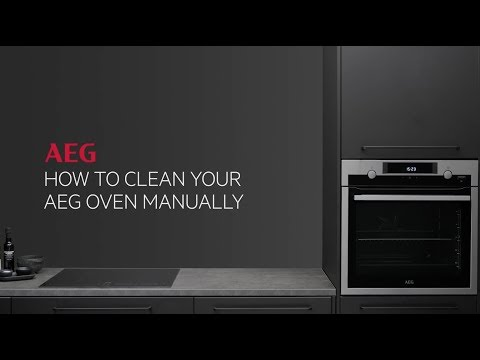 How to clean your AEG oven manually