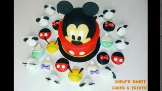 Mickey Mouse Cake & Cupcakes ( part 1 )