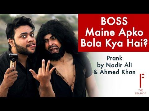 || Boss Maine Apko Bola Kya Hai || Prank By Nadir Ali & Ahmed Khan In P4 Pakao