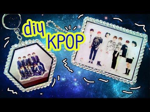 KPOP DIY   BTS Hotglue Handmade Keychains   Bangtan Boys