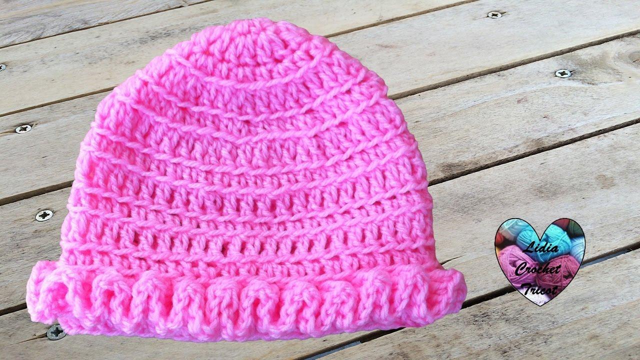 Bonnet bébé crochet wiggly crochet   Gorrito bebe crochet - YouTube b9541b6cb56
