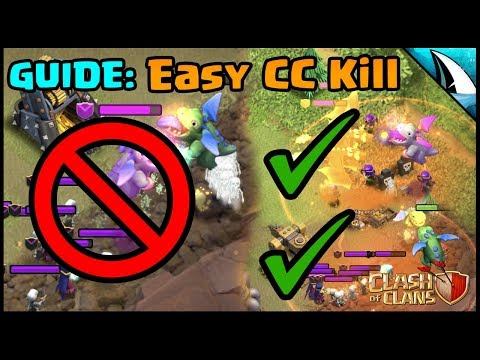 SIMPLE GUIDE: How To Lure/Kill CC Troops Without Heroes | Clash Of Clans