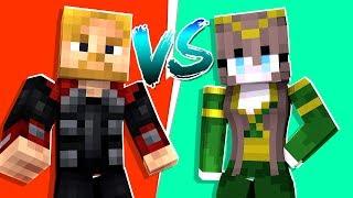Minecraft - Epic THOR VS LOKI Battle in Crazy Craft | JeromeASF