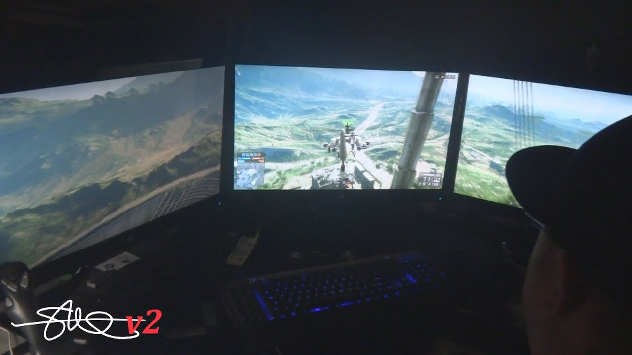 Battlefield 4 PC - Graphics on Ultra - 5760x1080 - 3 Monitors 2 GTX 780 SLI - YouTube