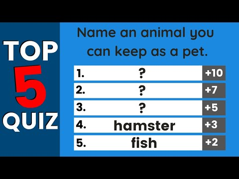 Easy English Quiz   Top Five Answers