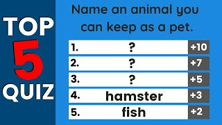 Easy English Quiz | Top Five Answers