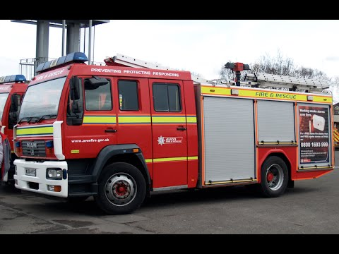 Avon Fire and Rescue Turnout   WU04 HYG   Driver Training   MAN M2000