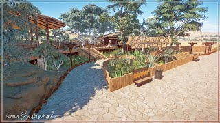 Kangaroo \u0026 Ostrich Habitat - Australian DLC   Planet Zoo Speed Build