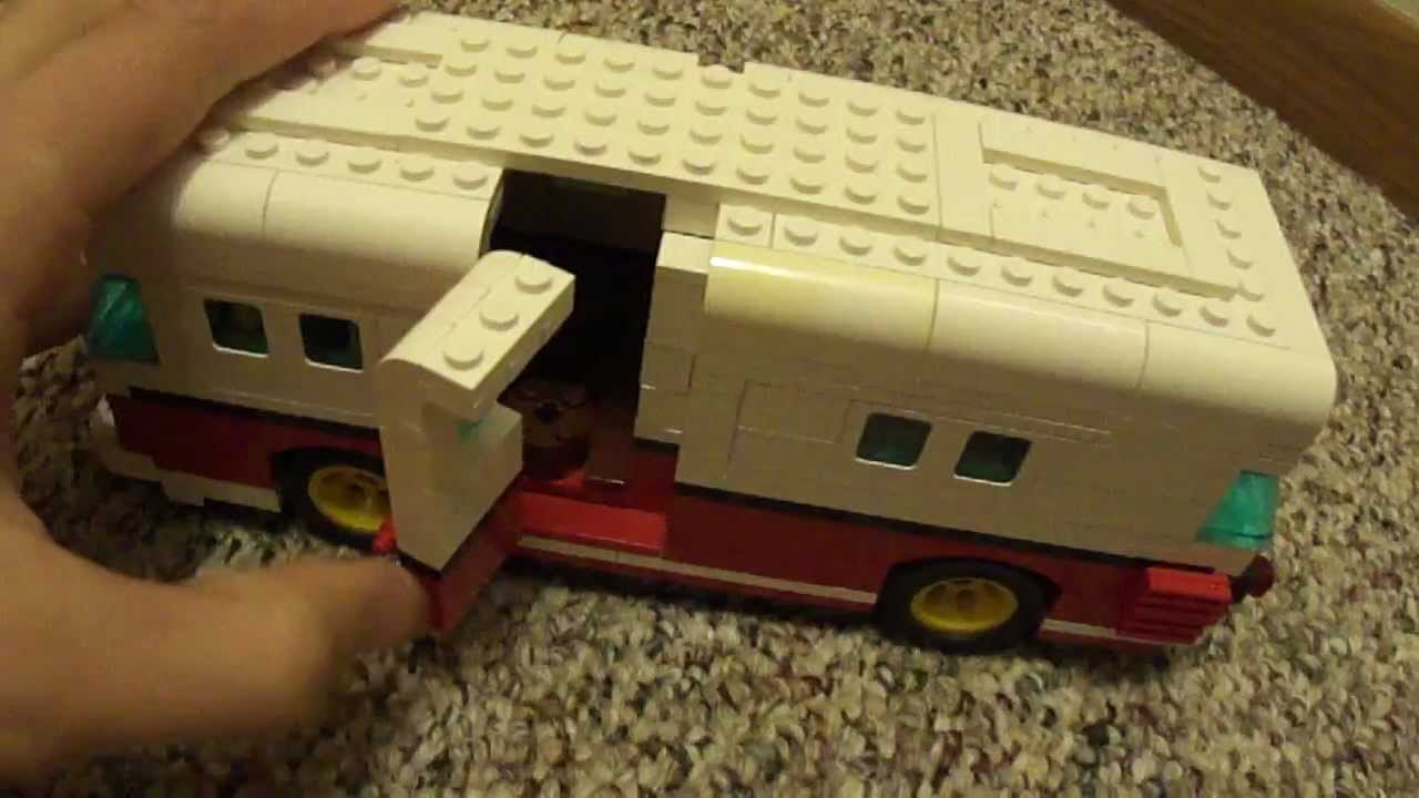 Lego Volkswagen Camper Custom Minifigure Scale Youtube