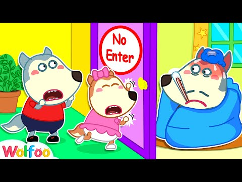 Wolfoo, Don't Enter the Room - Daddy Got Sick - Yes Yes Stay Healthy | Wolfoo Channel Kids Cartoon