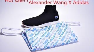 new arrival alexander wang x adidas aw run clean black