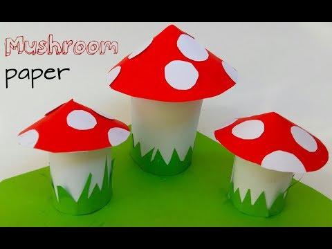 How to make paper Mushroom