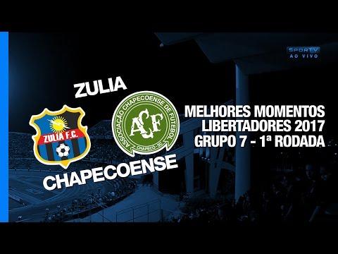 Melhores Momentos - Zulia 1 x 2 Chapecoense - Libertadores - 07/03/2017