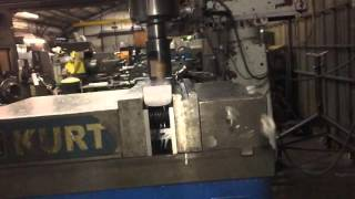 Carbon steel milling in slow motion