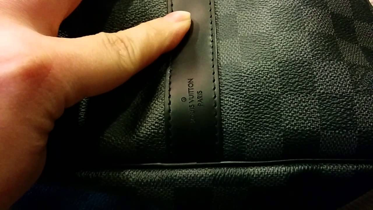 a623be079cf10 Louis Vuitton Men s Keepall Bandouliere 55 in Damier Graphite strap ...