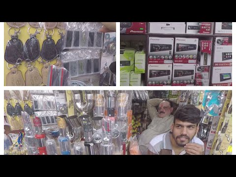 kashmiri gate car accessories market | car infotainment system | car speakers | car accessories