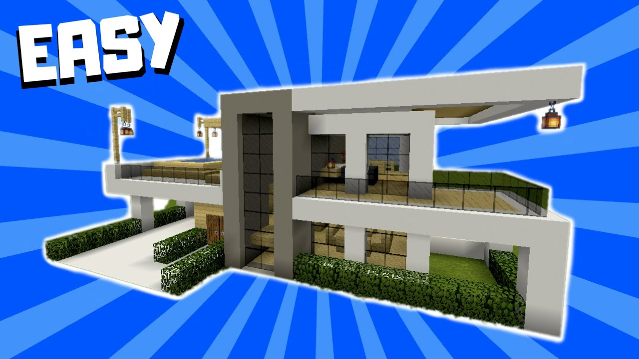 Minecraft How To Build A Modern Mansion House Tutorial 1 Youtube