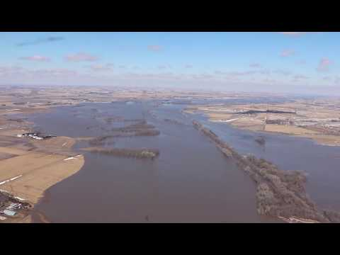 Historic Flooding in Nebraska - State Leaders Survey Damage