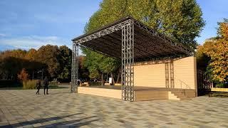 Смотреть видео Парк имени Святослава Фёдорова в Москве (14.10.2018) онлайн
