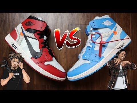 debe6b5f328 OFF WHITE AIR JORDAN 1 UNC REVIEW / HISTORY - YouTube