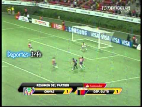 """D. Quito 1 - 1 Chivas """"Copa Santander Libertadores 2012"""" (Deportes-Info)"""