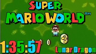 Super Mario World - Lunar Dragon Speedrun in 1:35:57