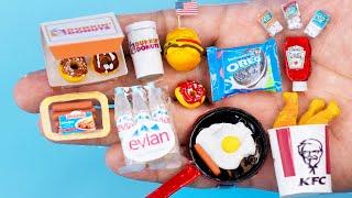 28 DIY Barbie MINIATURE IDEAS ~ Mini  Donut Dunkin , Oreo,  Potato ketchup and more!
