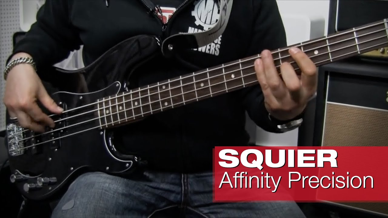 Squier by Fender Affinity Precision Bass PJ RW BLK - YouTube