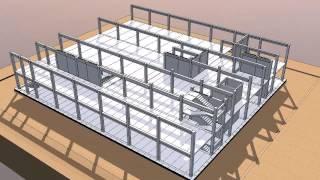 Визуализация возведения здания(, 2015-06-23T11:22:16.000Z)