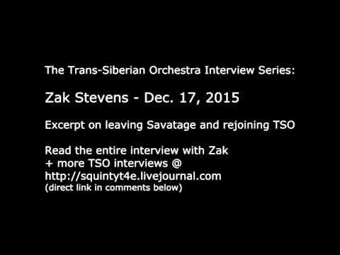 Trans-Siberian Orchestra Interview: Zak Stevens on leaving Savatage/Joining TSO Dec 17, 2015 excerpt