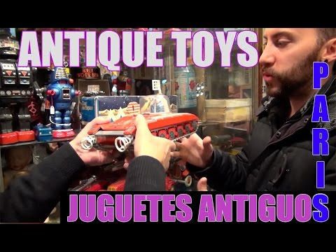 JUGUETE ANTIGUO VINTAGE TOY MARCHE AUX PUCES PARIS TIN TOY SMURF MADHUNTER COMPRO