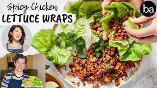 Testing Christina Chaey's Spicy Chicken Lettuce Wraps | Healthy-ish | Bon Appetit Review #76