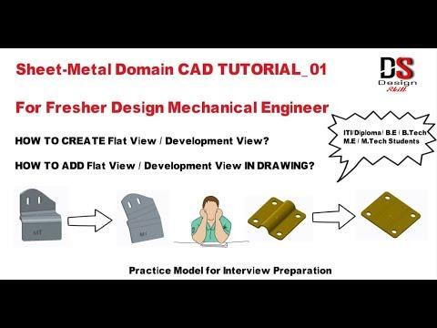 Sheet-Metal Domain CAD TUTORIAL_01