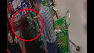 Vea cómo una banda robaba montones de comida en supermercados - Noticias Caracol