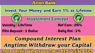 Invest Your Money on AttonBank and Earn 1% as Lifetime I Full Tamil Explanation I Earn With Ajmal