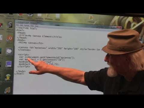 HTML5 Lecture Series at SNHU - Lecture 28 Canvas Element