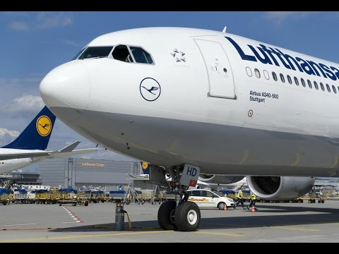 Lufthansa BUSINESS Class I A340-600 I Sao Paulo to Munich (HD)