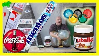 Repeat youtube video Nutella + 3 durex + coke + Mentos + Italia world record