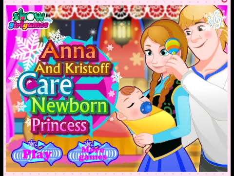 Anna and Kristoff Have A Baby Game - Girl Games - YouTube