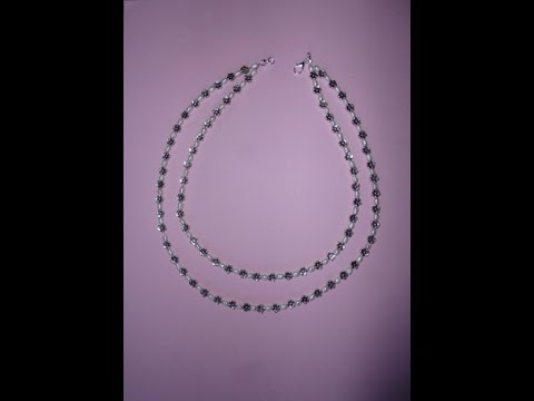 6e206a3e5f97 Como hacer un collar doble vuelta con perlas y piezas metalicas ...
