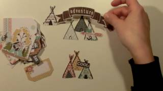 DIY embellishment - tipi, inspired by Crate Paper Cute Girl (eng)