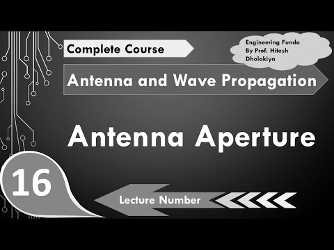Antenna Apertures, Antenna Parameters in Antennas and Wave Propagation by  Engineering Funda